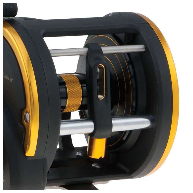 SQL20LW Penn SQL20LW Squall Levelwind Saltwater Fish Trolling Fishing Reel, Black & Gold 3