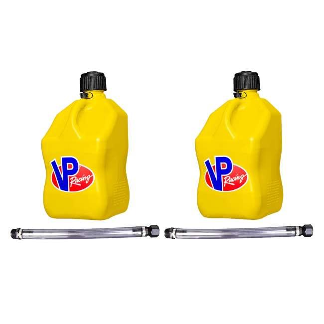 "3556 VP Racing Fuels 5-Gal. Motorsport Liquid Container, Yellow w/ 14"" Standard Hose (2 Pack)"