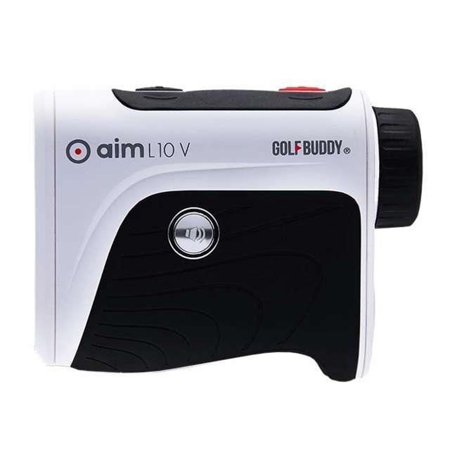 AIM-L10V + GB-BATTPACK-RG-2 GolfBuddy Aim L10V Golf Distance Talking Rangefinder + USB Charging Power Pack 4