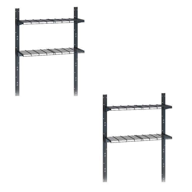 BMSA4S Suncast Outdoor Storage Shed Shelf Kit for Sierra & Everett Shed (2 Pack)