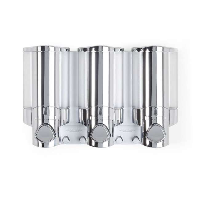 6 x 76345-1 Better Living Products 3 Chamber Adhesive Shower Dispenser, Chrome (6 Pack) 2