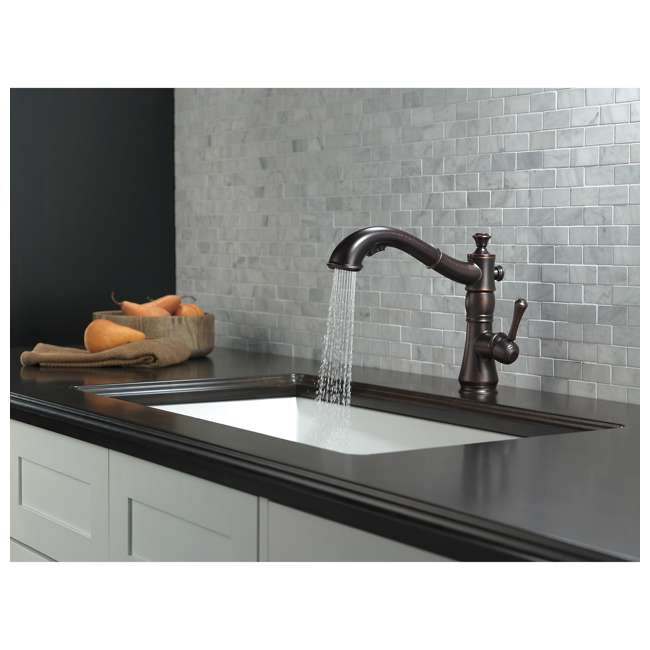 4197-RB-DST Delta Cassidy Single Handle Pull-Out Faucet, Bronze (2 Pack) 4