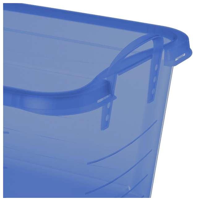4 x CS-50TB Life Story Blue Closet Organization & Storage Box Container, 55 Quart (4 Pack) 3
