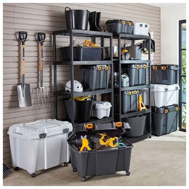 4 x FBA32274 Ezy Storage 32274 Bunker 130 Liter Heavy Duty Storage Container Tub, (4 Pack) 3