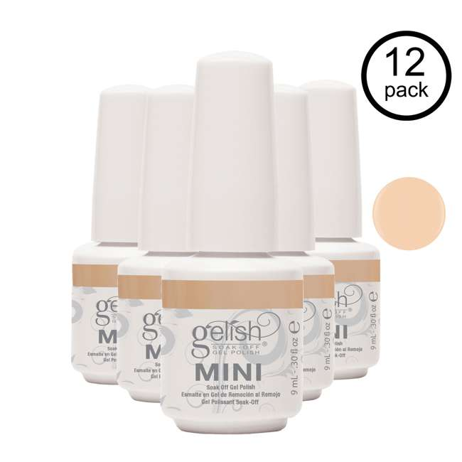 12 x 04251-NeedATan Gelish Mini Need a Tan UV Led Soak Off Gel Nail Polish Bottle 9 mL (12 Pack)