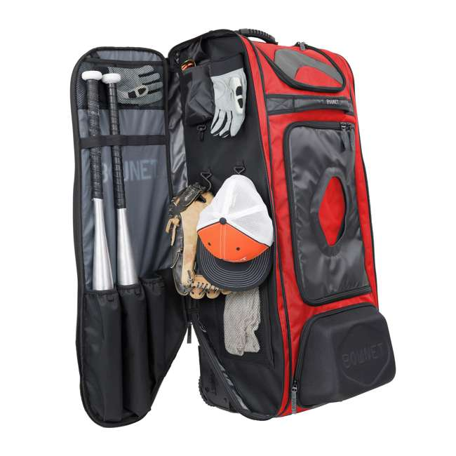 BN-COMMANDER BAG S Bownet The Commander Baseball Softball Catcher's Bag, Red 3