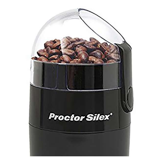 E167CYR Proctor Silex Fresh Grind 10-Cup Whole Bean Coffee Grinder, Black 3