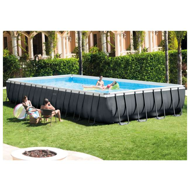 26373EH + 2 x 58868EP + 58821EP Intex 32ft x 16ft x 52in Pool Set with Floating Lounge (2 Pack) and Cooler Float 2