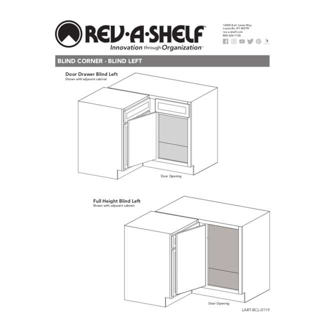 5PSP-15-CR Rev-A-Shelf 5PSP-15-CR 15 Inch Chrome Blind Corner Kitchen Cabinet Organizer 6
