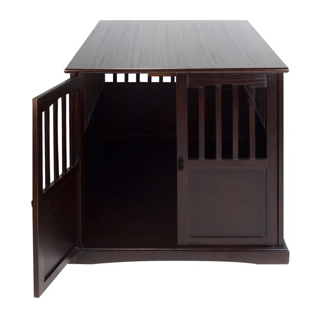 600-84 Casual Home Extra Large Pet Crate End Table, Espresso 4