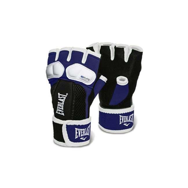 P00000719 Everlast Prime EverGel Foam Padding Hand Wraps Gloves Size Medium, Navy Blue
