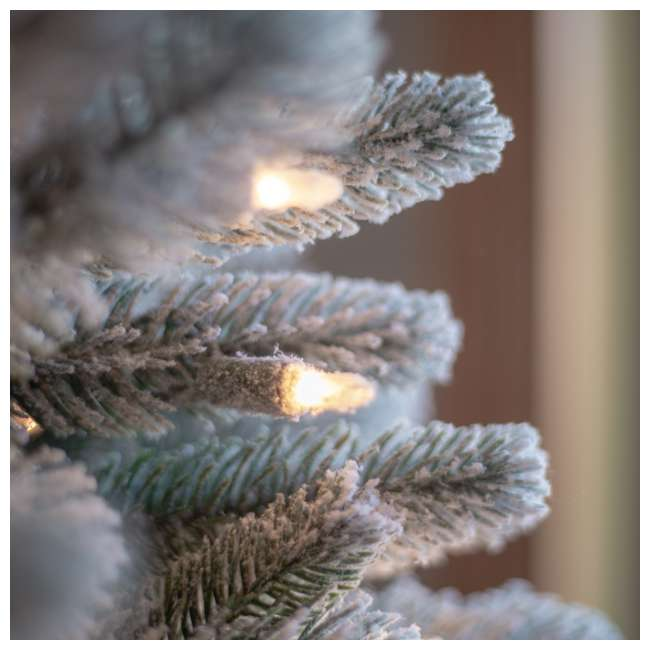TG70P3A45S04-U-B Home Heritage 7' Frosted Alpine Quick Set Flocked Christmas Lit Tree (Used) 7