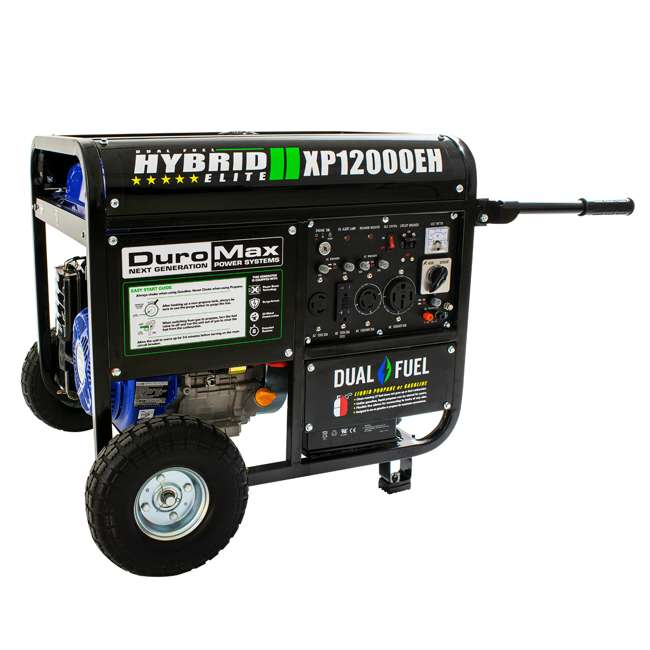 XP12000EH + XPLGC DuroMax 12000 Watt Portable Hybrid Generator & Generator Cover, Black 4