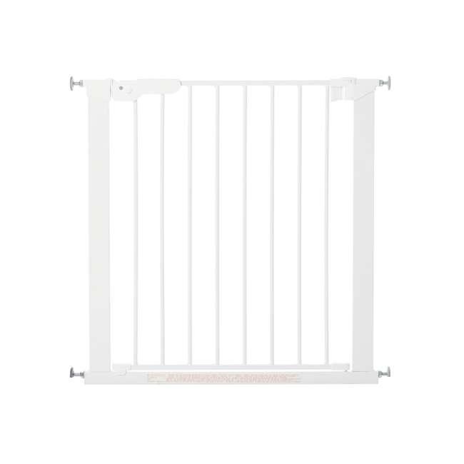 BBD-60114-5492 BabyDan Premier True Pressure Fit 28.9-36.7 Inch Doorway Safety Baby Gate, White 1