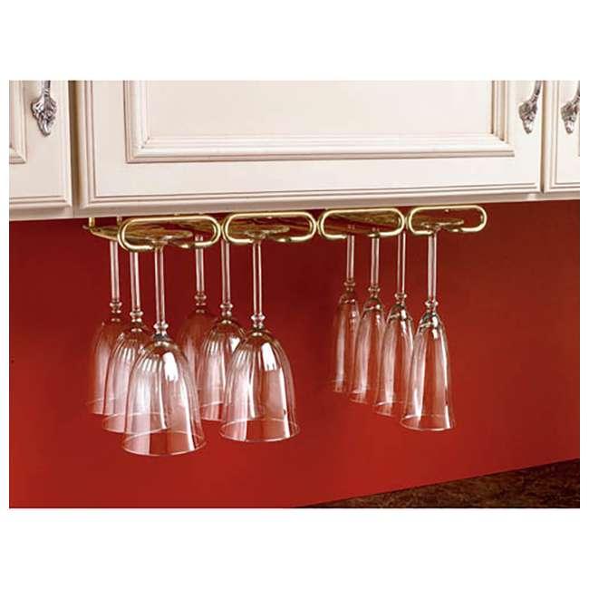 """3450-11ORB Rev-A-Shelf 3450-11ORB 11"""" Quad Under Cabinet Glass & Stemware Holder, Bronze 1"""