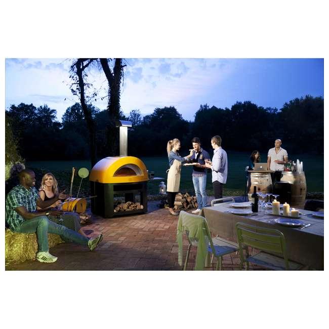 FXALLE-LGIA Alfa FXALLE-LGIA Allegro Outdoor Steel Italian Pizza Wood Oven with Base, Yellow 9