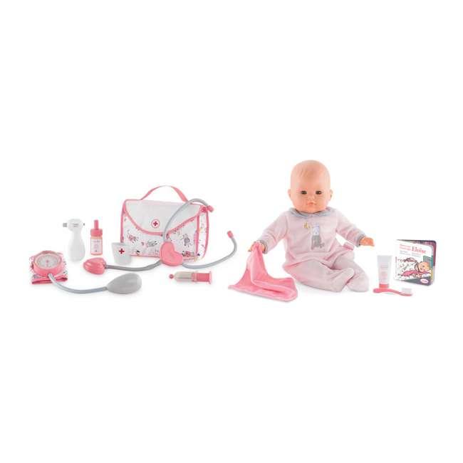 FRV09 + FPK17 Corolle Mon Grand Poupon 5 Piece Large Toy Pediatrician Doctor Set w/ Eloise Doll