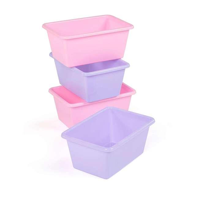 SM098 + SM111 Tot Tutors Plastic Storage Container Bins, Pink/Purple & Blue/Teal (Set of 8) 1