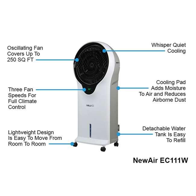 EC111W-U-A NewAir 250 Sq Ft 3 Speed Comfort Evaporative Cooler, White (Open Box) (2 Pack) 8