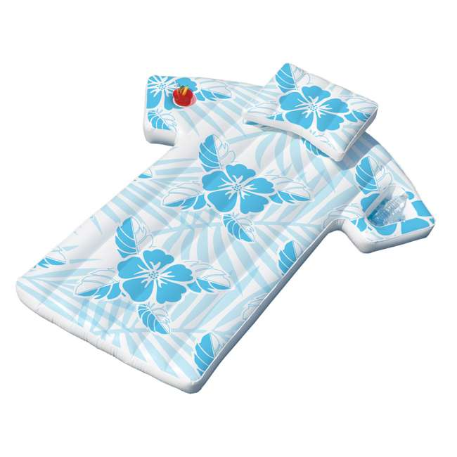 90604-U-A Swimline 90604 Inflatable Swimming Pool Hawaiian Shirt Float Lounger (Open Box) 2
