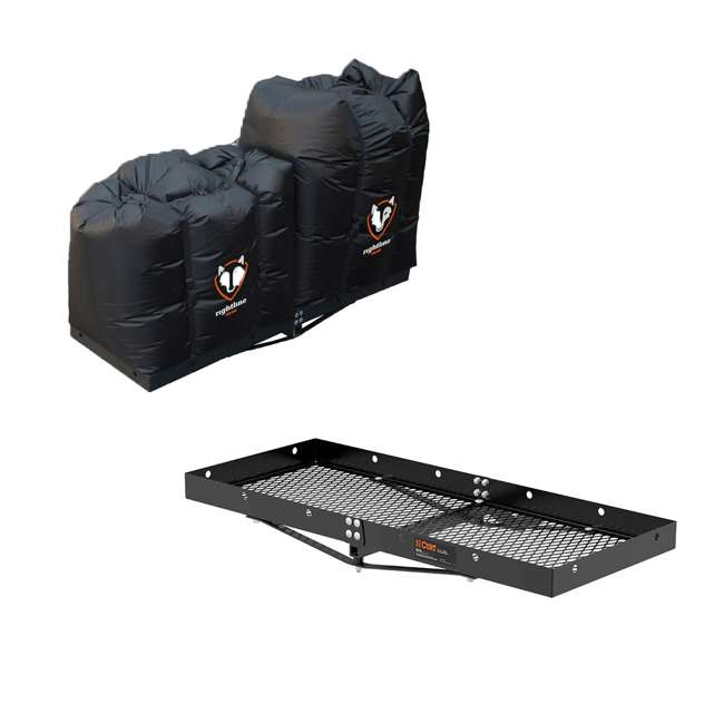 100T62 + CURT-18110 Curt Vehicle Rear Mounting Tray and 2 Rightline Gear Dry Bags