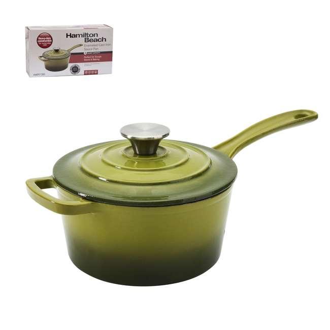 HAR101G + HAR113G Hamilton Beach Dutch Oven Pot & Sauce Pan, Green 4