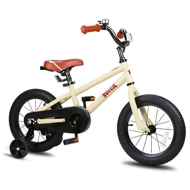 BIKE008-16 JOYSTAR Totem Series 16-Inch Kids Bike with Training Wheels & Kickstand, Ivory