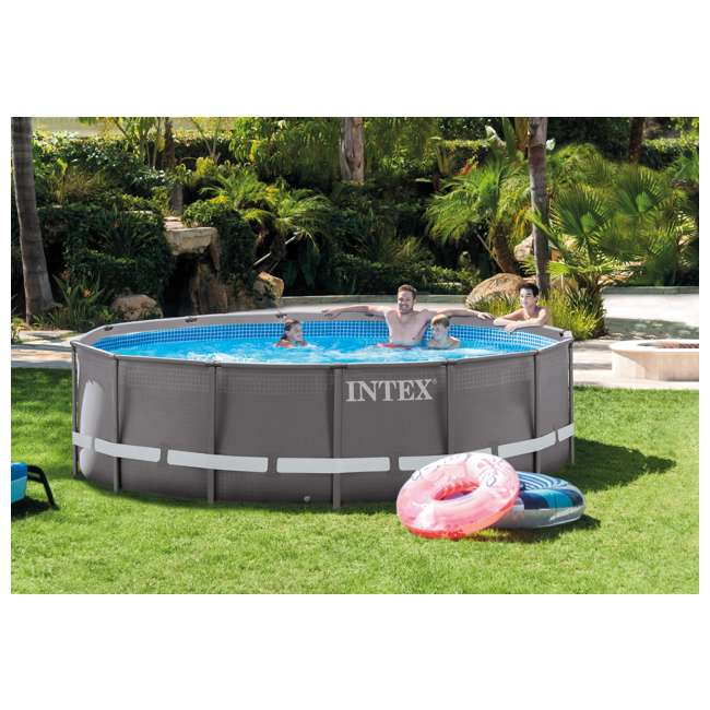 "26309EH Intex 14' x 42"" Ultra Frame Pool 1"