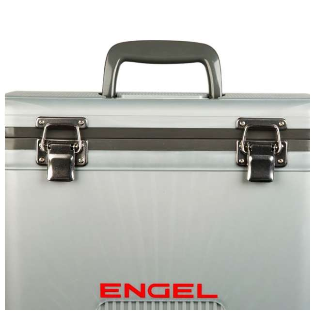 UC13S Engel 13-Quart Dry Box Cooler with Shoulder Strap, Silver  1