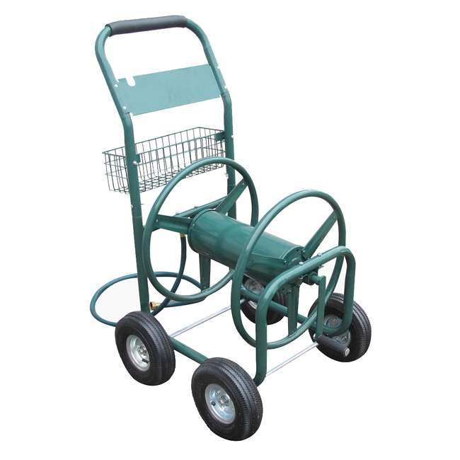 liberty garden products 4 wheel garden hose reel cart lbg 872 2 - Garden Hose Reel Cart
