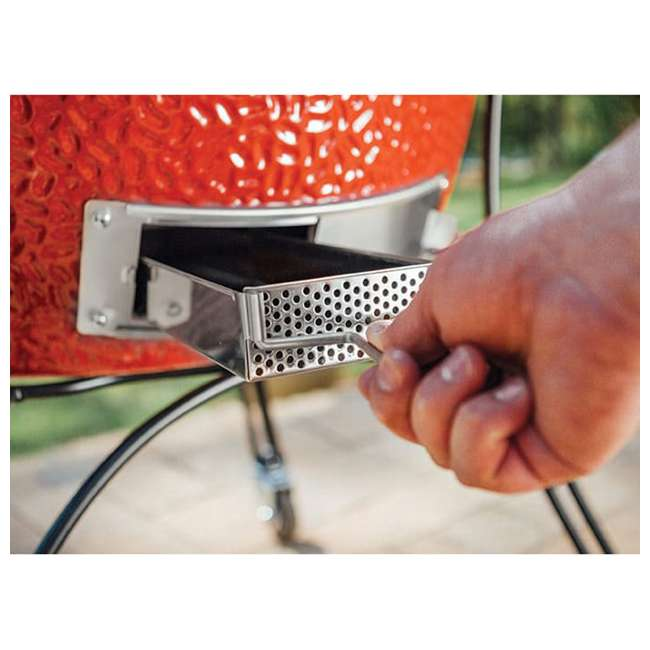 BJ24RHC-U-B Kamado Joe Big Joe II 24 Inch Portable Ceramic BBQ Charcoal Grill, Red (Used) 3