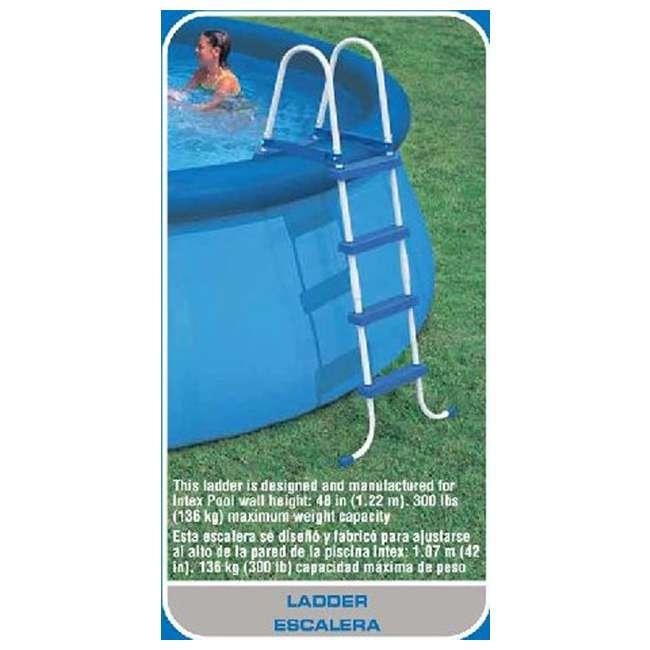 Intex 15 39 X 48 Inch Easy Set Swimming Pool Kit With 1000 Gph Filter Pump Skooba Vac 28167eh
