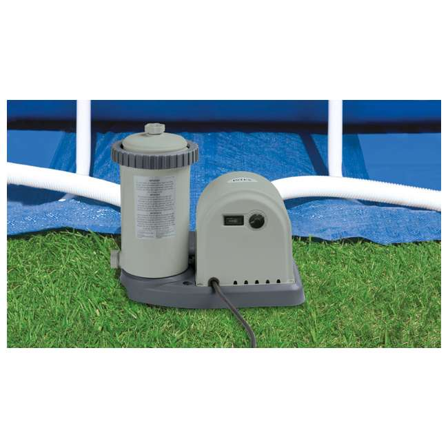 26175EH + QLC-42003 Intex 18 x 4 Foot Inflatable Easy Set Pool w/ Ladder, Pump, & Cleaning Kit 7