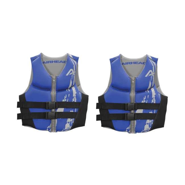 10076-09-B-BL Airhead Swoosh Neolite Adult Medium Life Vest, Blue (2 Pack)