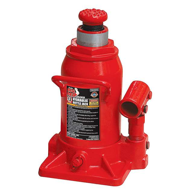 51254a1fc0e Torin Big Red 12-Ton Capacity Hydraulic Stubby Bottle Jack   TOR-T91207A