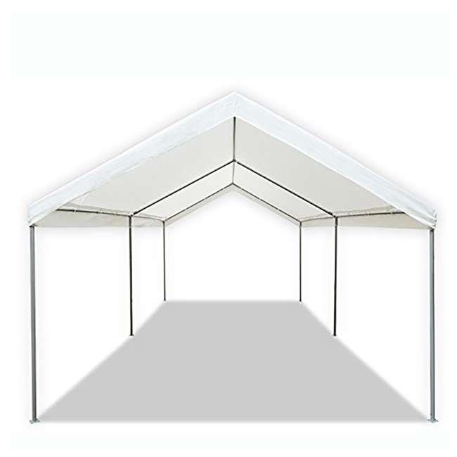 CVAN22006200010 Caravan Canopy Domain 10 x 20 Foot Straight Leg Instant Canopy, White 1