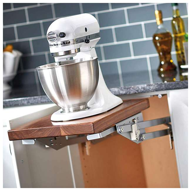 RAS-ML-HDCR Rev-A-Shelf Lift Stand Mixer Appliance Lift Mechanism for Custom Shelf, Chrome 1