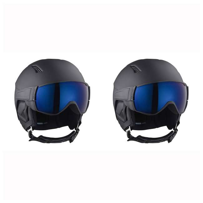 L40534500-L Salomon Driver S Snow Sports Black Visor Helmet, Large (2 Pack)