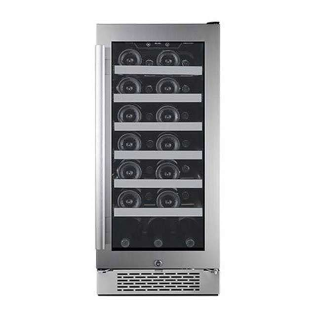 AWC151SZLH + AWC151SZRH Avallon 15 Inch Left & Right 27 Bottle Dual Zone Wine Cooler, Stainless Steel 2