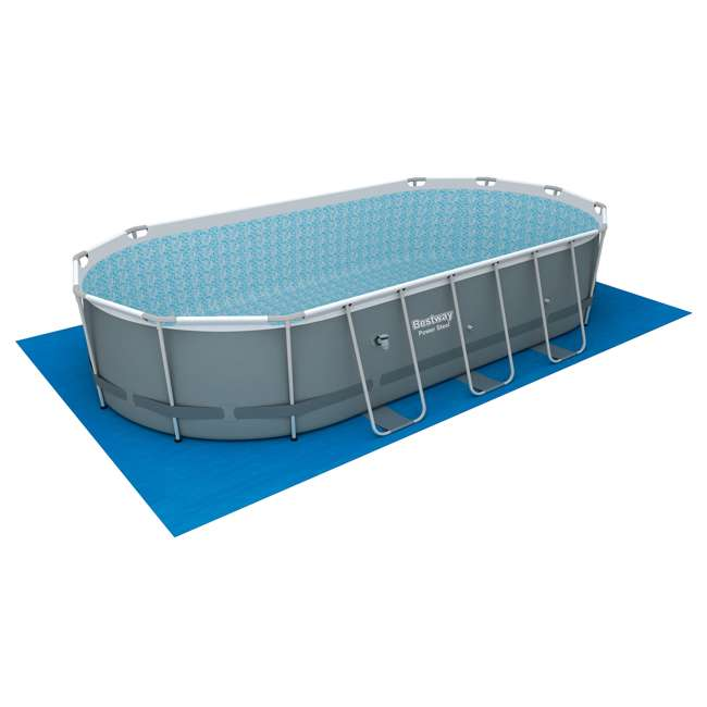 56711E-BW + 58422E-BW Bestway Power 18 x 9 x 4 Foot Above Ground Pool Set with Pump & Aqua Vacuum 8