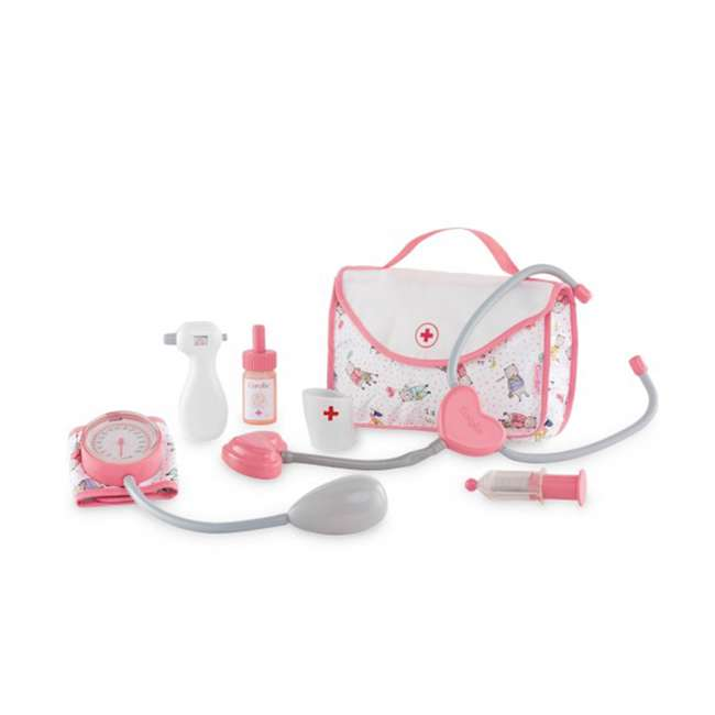 FRV09 + FPK17 Corolle Mon Grand Poupon 5 Piece Large Toy Pediatrician Doctor Set w/ Eloise Doll 2