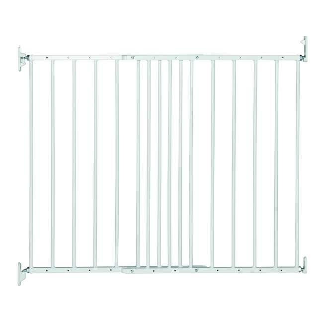 BBD-57314-5400 BabyDan MultiDan Wall Mount 24.6-42 Inch Doorway Safety Baby Gate, White Metal