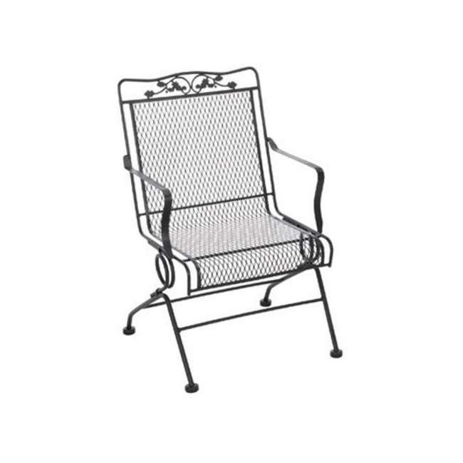 7871700-0205 Meadowcraft Glenbrook Durable Outdoor Powder Coated Action Patio Chair, Charcoal