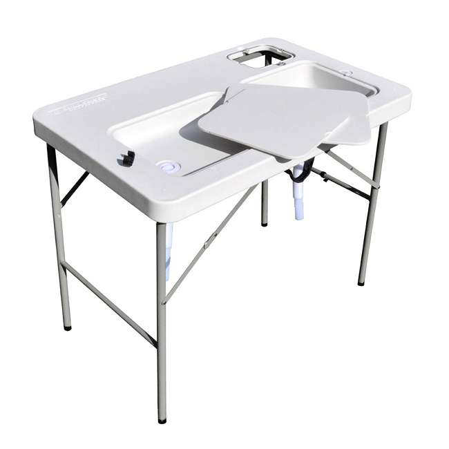 CCC-302 Coldcreek Outfitters Ultimate Portable Outdoor Prep Work Station Table w/ Sinks