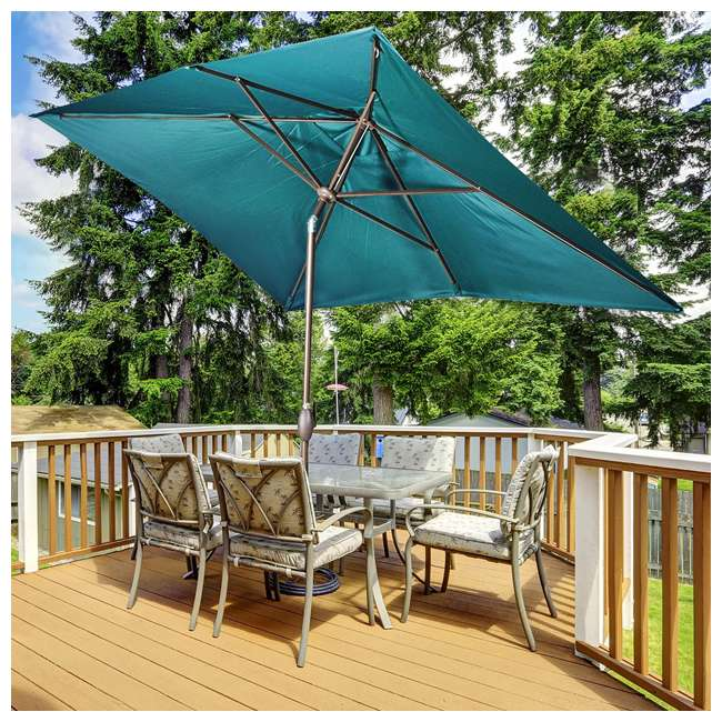 AP23386CTDG Abba Patio 6.6 x 9.8 Feet Outdoor Market Table Umbrella, Green 1