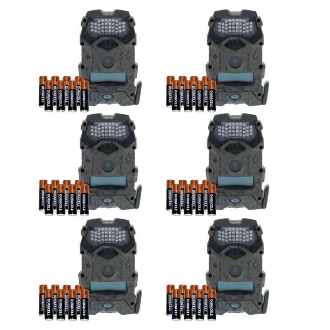 6 x WGI-M16I8W268 Wildgame Innovations Mirage 16 16MP Game Camera with Batteries (6 Pack)
