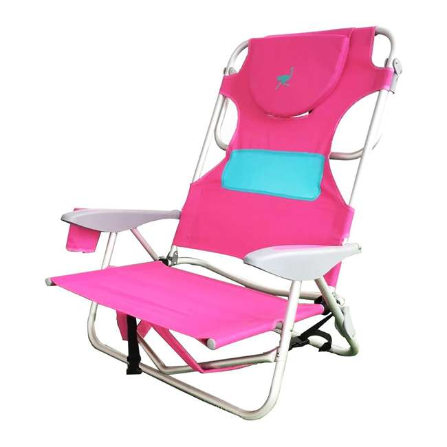 LCCOYB-2000P Ostrich Outdoor Beach Ladies Comfort and On-Your-Back Backpack Beach Chair, Pink