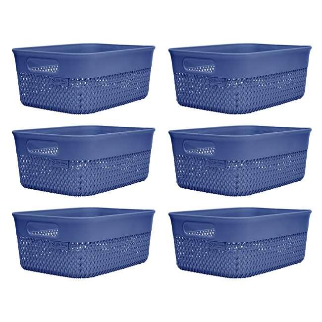 6 x BSK-10-BLU Life Story Lightweight Storage Woven Trendy Basket 10 Quarts, Blue (6 Pack)