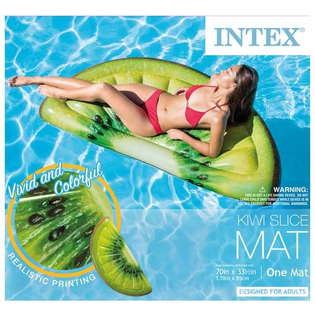 58764EP Intex Giant Inflatable 70-Inch Kiwi Slice Mat Float 2