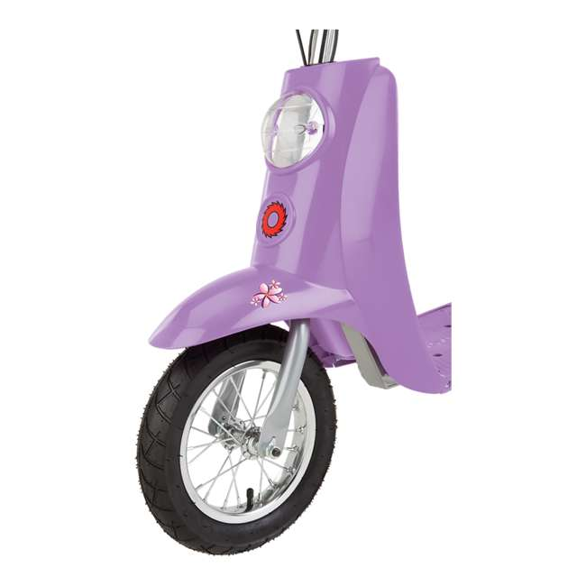 15130661 + 97783 Razor Pocket Mod Electric Retro Scooter, Purple & Helmet 4